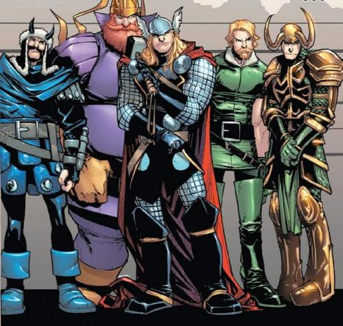 smilingoera:  The boys of Asgard .    As-gard's back, al-right!