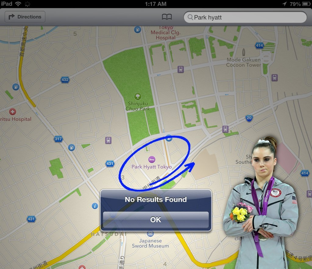 McKayla is back for iOS 6, and she's still not impressed. Just for fun! More at http://imgur.com/a/gpkTP . All pictures were from this blog.