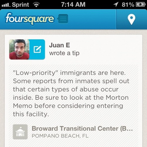 juansaaa:  Ahhhhhhh. I'm liking leaving these tips at these facilities LOL #immigration #dreamact #undocumented #dwn  (Taken with Instagram)