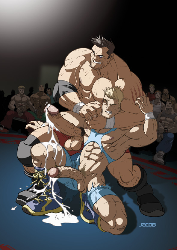 bigwatchboiz:  No watches in this one, just muscle and hot wrasslin'! Enjoy! xx