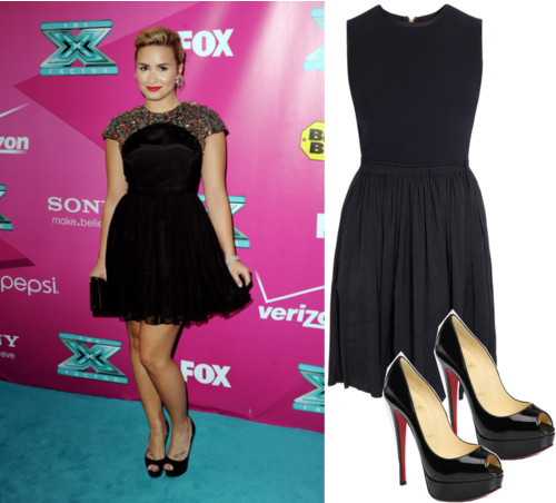 Dress Like Demi Lovato by soflovesfashion featuring a little black dressA L C little black dressboutique1.comChristian louboutin shoessaksfifthavenue.com