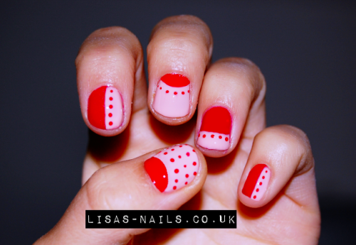 Half moon and polka dots