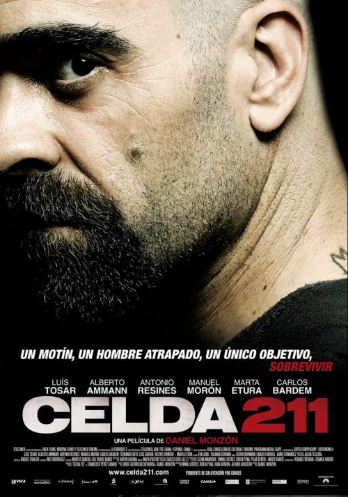 Celda 211 (Cell 211)(2009)  The story of two men on different sides of a prison riot — the inmate leading the rebellion and the young guard trapped in the revolt, who poses as a prisoner in a desperate attempt to survive the ordeal.  developing some admirations towards the spanish film industry. excellent film. very heartbreaking, intense and unpredictable.  on imdb
