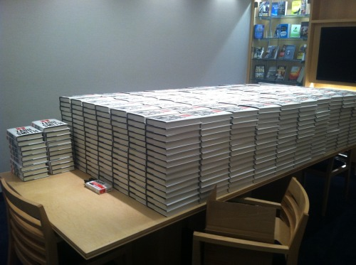 thepenguinpress:  Zadie Smith is in the Penguin offices today to sign all of these. Did we mention we've earmarked five copies for a giveaway? Enter here. And if you haven't seen Zadie Smith's interactive tour of London, we highly recommend it.  Trying with all my might not to lurk outside the Penguin offices on my lunch break. (It doesn't help that they are only a couple blocks away.)