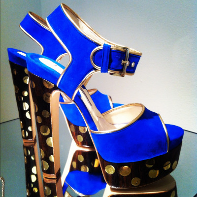 High voltage heels! These @Brian_Atwood sandals are electric. #MFW