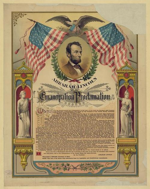 September 22, 1862: Abraham Lincoln Issues Emancipation Proclamation On this day in 1862, President Abraham Lincoln issued a preliminary Emancipation Proclamation. This declaration set a date for the freedom of more than three million black slaves in the United States.  The Emancipation Proclamation ordered the emancipation of all slaves residing in Confederate states that had not returned to Union control by January 1, 1963. It emphasized the mission of the Civil War as a fight against slavery. The Emancipation Proclamation was signed and issued on January 1, 1863.  To read Lincoln's legendary decree, visit Ken Burns's The Civil War site. Photo: Chromolithograph by The Strobridge Lith. Co., c1888 (Library of Congress)