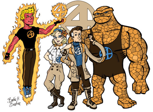 Here's my entry for Project Rooftoop's Fantastic Four redesign contest.  You can see the winning entries here. You can see the other honorable mentions here. Lots of fun stuff.