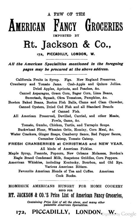 Jackson's in Piccadilly for American groceries
