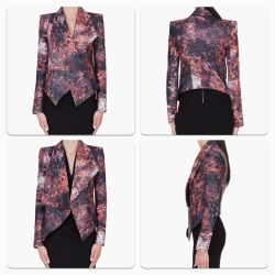 billidollarbaby:   Helmut Lang Burgundy Leather Floral Print Jacket