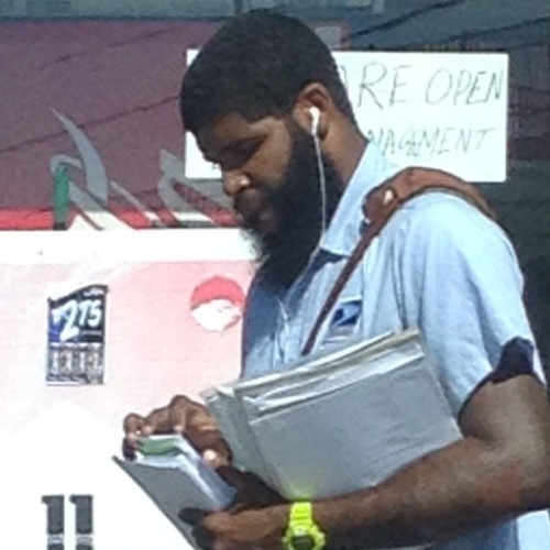 Biggest beard I've ever seen on a mailman. Didn't know @jharden13 picked up a second job! #beardcountry #beardlife #beardedmailman (Taken with Instagram)