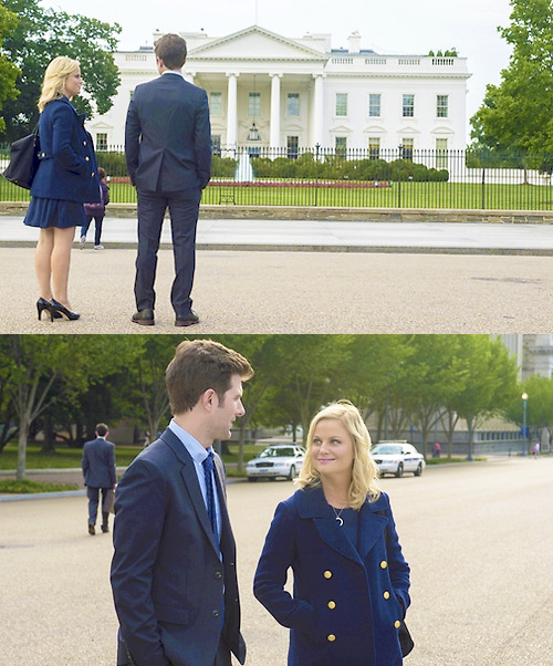 #the president and her first husband checking out their future home
