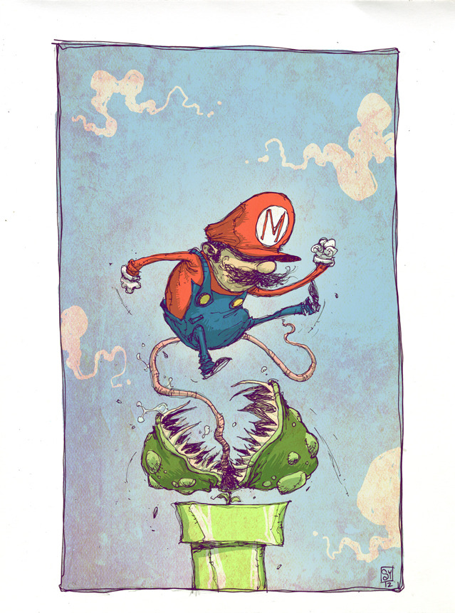 Super Mario Bros. Daily Sketch Skottie Young.