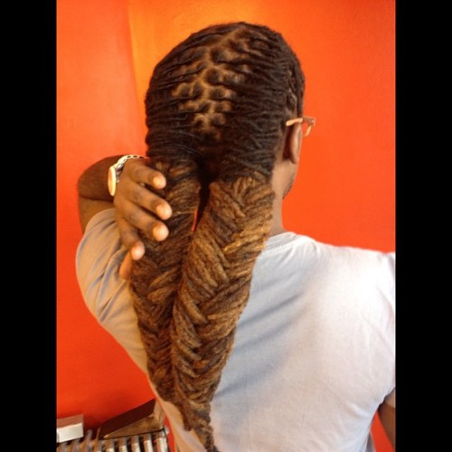 misterbrooklyn:  Got my locs styled into two fishtails. I have created many styles; this is one of my personal favorites. #locs #hair #dreads  (Taken with Instagram)