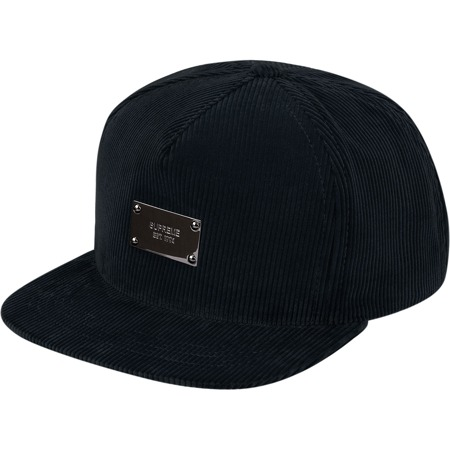 Supreme: Metal Plate 5-Panel - Black
