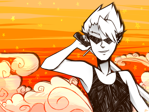sketch-party:  Dirk Strider <3