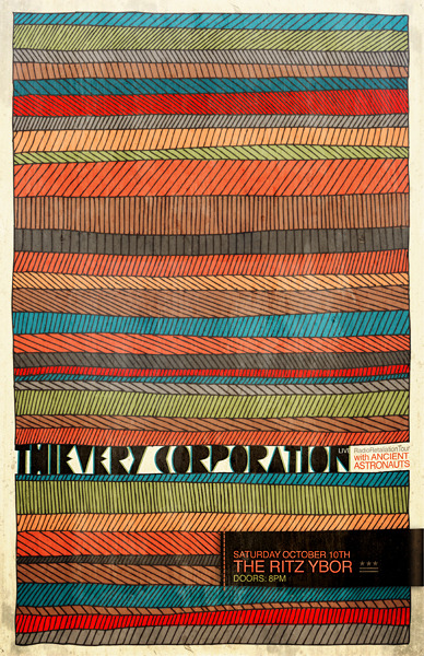 breakinglevee:  Thievery Corporation gigposter