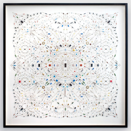 "manbartlett:  actegratuit:   ""Technological mandala 02″ by Leonardo Ulian, aesthetics of electric components   So cool! :)"