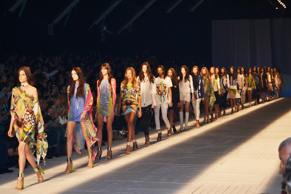Showstopping Just Cavalli finale today at Milan Fashion Week | more soon at Design Scene: http://www.designscene.net/just-cavalli