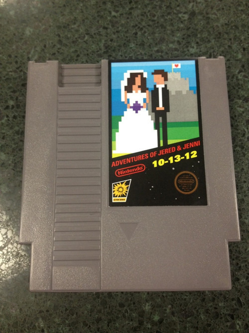 Awesome Retro Nintendo Wedding Invite