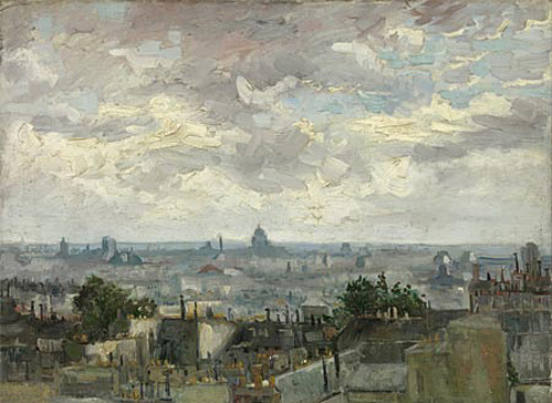 nevver:  View of Paris, Vincent van Gogh