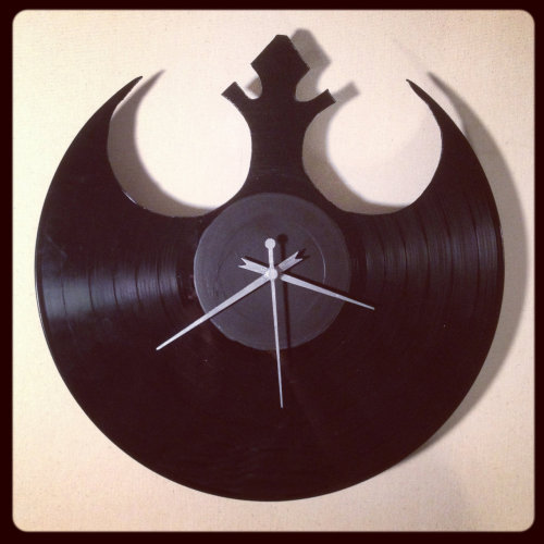 Vinyl Rebel Alliance Wall Clock Available for $55 USD at LProducts.