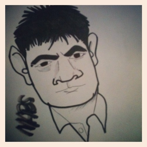 #charlie #sheen #cartoon #caricatures #sketch #doodle #art #instaart (Taken with Instagram)
