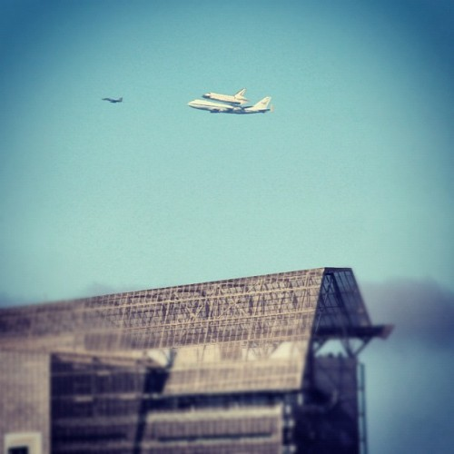 Space Shuttle over San Francisco #spottheshuttle  (Taken with Instagram)