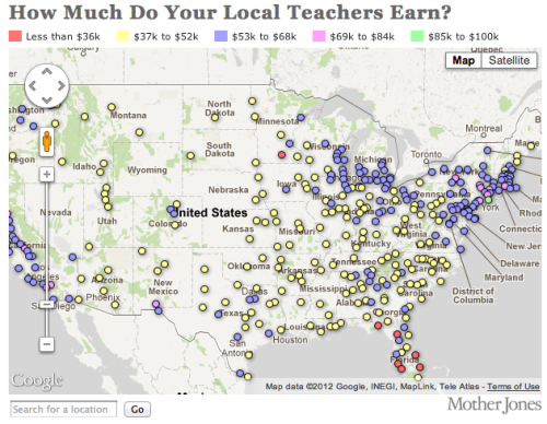 explore-blog:  Mapping how much teachers make across the U.S.