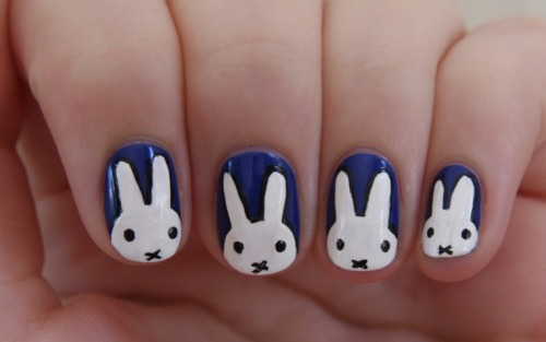 beautychocolat:  Miffy Nails!   BeautyChocolat @youtube Nail Art