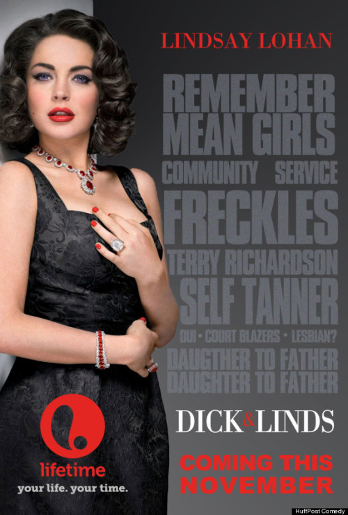"We helped Lifetime spice up their ""Liz & Dick"" poster a little bit 