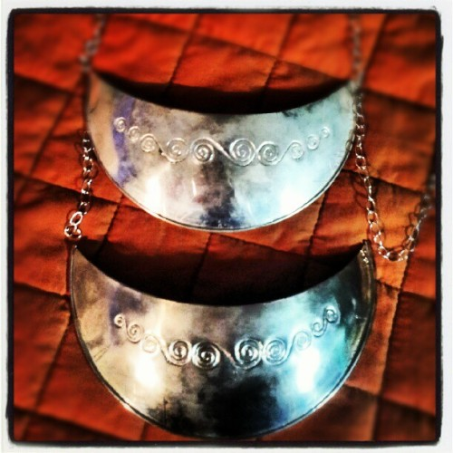 #traditonal #gorget in the making - #chickasawesome #nativeamericanjewelry #windspirals  (Taken with Instagram)