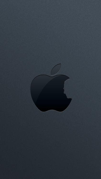 Le logo revisité pour l'Église d'Apple. mallox:  cool #iPhone5 #wallpaper parislemon:  chartier:  Dan Peterson, our lead designer at AgileBits, updated his Steve Jobs iPhone wallpaper for the 5. The design is based on Jonathan Mak's original art.  Nice.