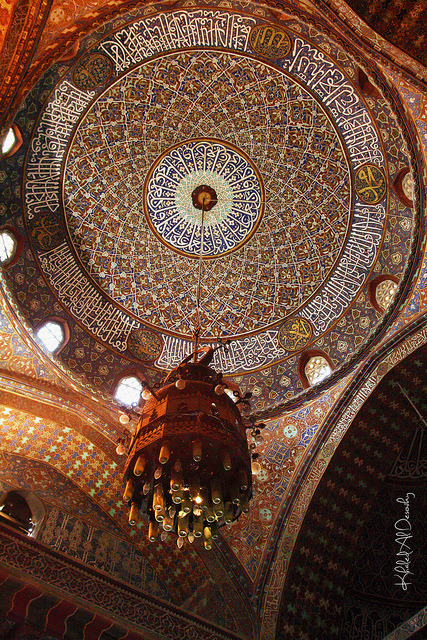 Suleiman Pasha Mosque: Interior on Flickr.