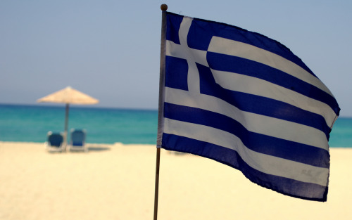 Greek flag :) Ikaria island