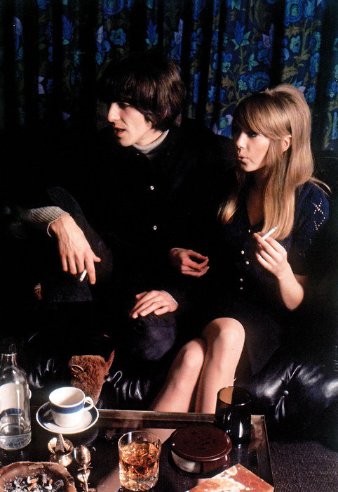 smokingissexy:  George Harrison & Pattie Boyd