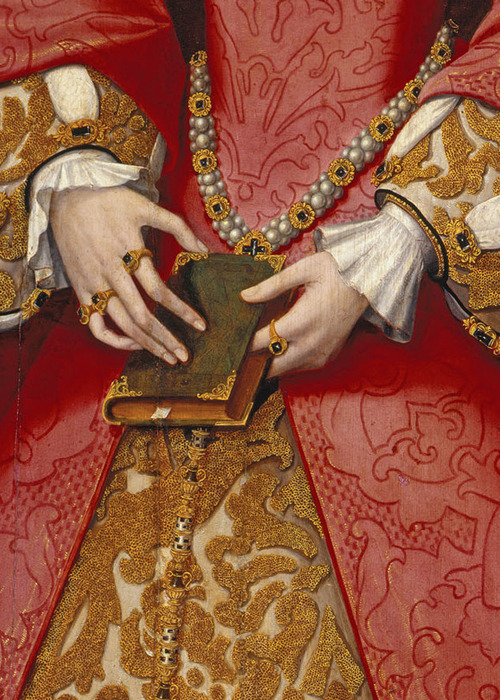 wycherley:  Anonymous, Elizabeth I when Princess (detail), ca. 1546 (x)