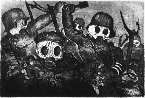 simplyjtk:  Shock Troops Advance Under Gas - Otto Dix