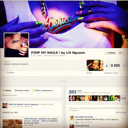 Follow me on Facebook !  (Pris avec Instagram)
