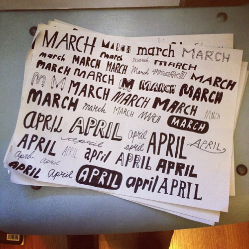 march and april page on Flickr.what i've been working on