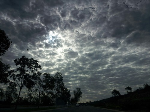 Clouds this morning going to work