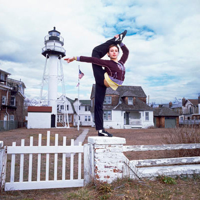 Olga Karmansky demonstrates her gymnast capabilities…Sea Gate, NY (via Seth Kushner)