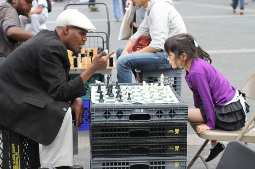 humansofnewyork:  Today in Epic Chess Matchups:
