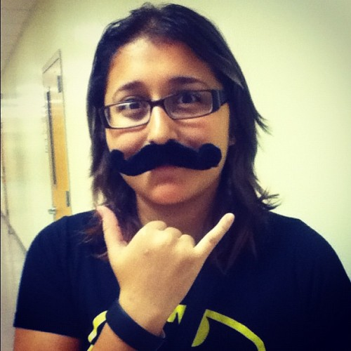 Lol Jessie's 'stache #mustache #cute #weird (Taken with Instagram)