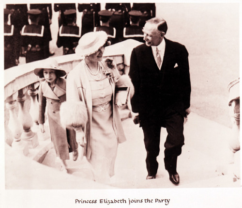 Princess Elizabeth joins the party. 27 April 1937