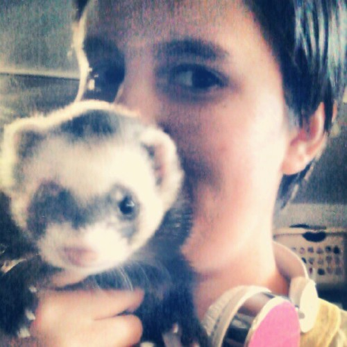 Jack and I are bros. #ferret #shelter  (Taken with Instagram)