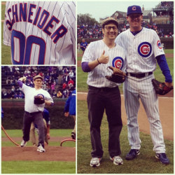 Here's Emmy-nominated actor and comedian Rob Schneider's first pitch before today's game!