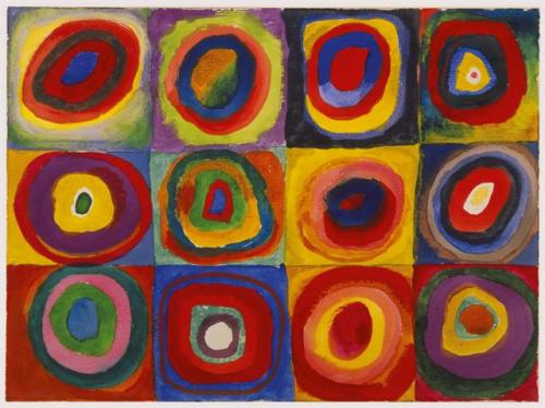 Color Study: Squares with Concentric Circles ~ Wassily Kandinsky