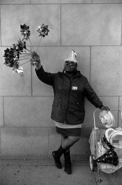 Portrait of a woman holding pinwheels, c. 1987. Photograph by Thomas Arndt. Want a copy of this photo?  > Visit our Rights and Reproductions Department and give them this number: ICHi-65904. Connect with the Museum