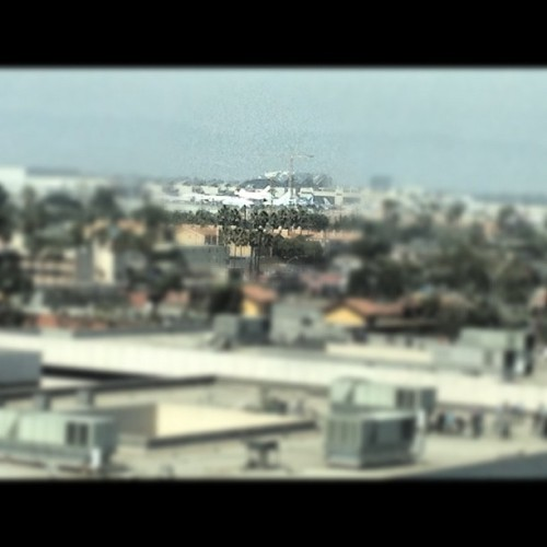 Tiny space shuttle touches down. #nasa #endeavor #lax (Taken with Instagram at Team One USA)