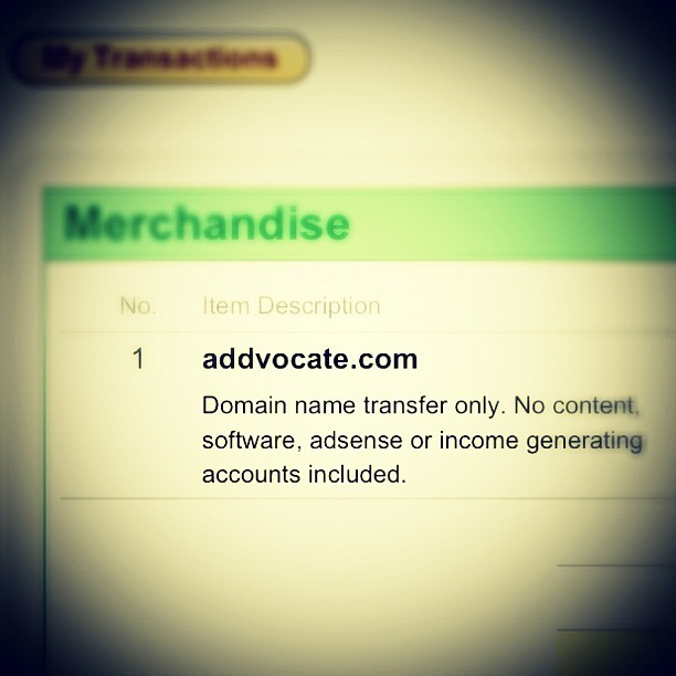 We are now an official .com  —  time to update our website & email addresses. :)  /cc @abraham @emilyjo @addvocate #startup (Taken with Instagram at Château Cerrito)